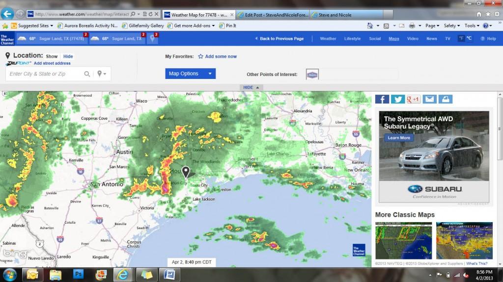 Houston weather map